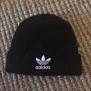 Adidas Black and White beanie